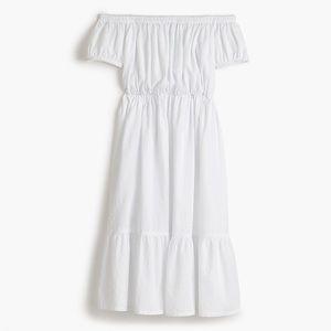J.Crew 100% Cotton Off The Shoulder Dress